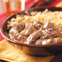 Hearty Beef and Noodles Recipe from Taste of Home -- shared by Sylvia Streu of Norman, Oklahoma