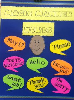 """www.projectcornerstone.org  A sample poster made for the lesson with """"Be Polite and Kind""""."""