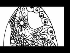 Doodle Egg - Zentangle Style Doodle Patterns in an Egg - Zendoodle Art ala Milliande