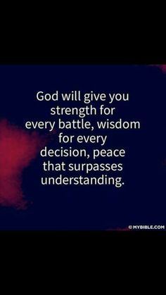Peace that surpasses understanding. This makes so much sense to me now...