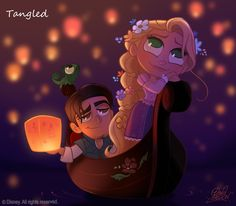 50 Chibis Disney : Tangled _ Rapunzel by *princekido