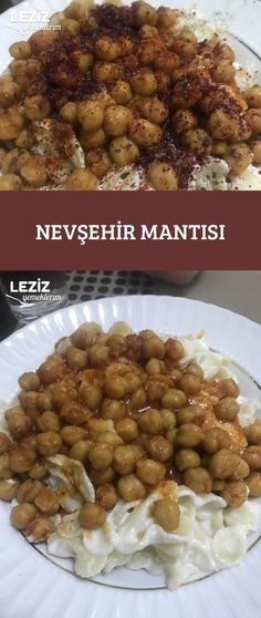 Nevşehir Mantısı Turkish Recipes, Ethnic Recipes, Good Food, Yummy Food, Chana Masala, Meat Recipes, I Foods, Pasta, Food And Drink