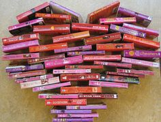 """""""Book Heart,"""" by Charlotte Mecklenburg Library, via Flickr -- """"Basic heart images for displays or monthly calendars from the Mountain Island branch of Charlotte Mecklenburg Library"""""""