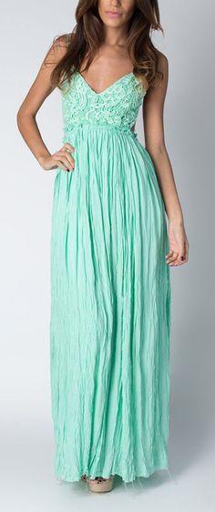 Beautiful Mint Maxi Dress