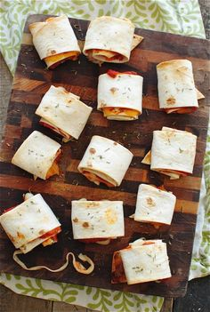 These Easy Homemade Pizza Rolls would be great with Udi's Gluten Free Tortillas!