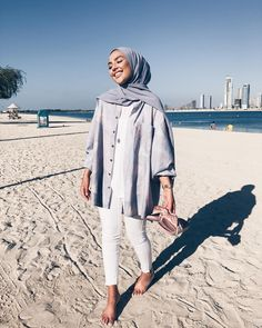 Trendy ideas for style hijab casual pantai Hijab Casual, Hijab Chic, Hijab Outfit, Casual Outfits, Girl Hijab, Hijab Dress, Casual Hijab Styles, Classy Outfits, Casual Clothes