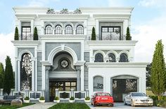 Maram Group – | Design & Build Indian House Exterior Design, Classic House Exterior, Classic House Design, Modern Exterior House Designs, Kerala House Design, Dream House Exterior, Interior Exterior, House Outside Design, House Gate Design
