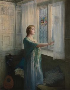 """Awaiting his* Return"" William Ladd Taylor - 1900 ( *november moon ;-)?"