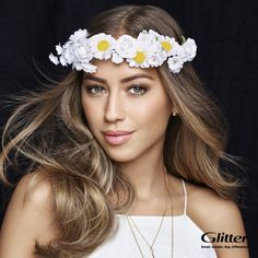 Our cover girl Kenza Zouiten will show us how to use awesome flower crown! #kenza #kenzazouiten #flowerdecoration #flowercrown #headband #headpiece #hairdecoration #hairproducts #hairproduct #hair #hairguide #thehairguide #fashion #glitterhaireverywhere