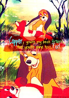 Day 6: Favorite animal well animals Fox and The Hound