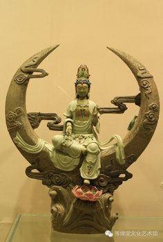 Guan-jin Guanyin, Mythology, Lion Sculpture, Statue, Image, Sculptures, Sculpture