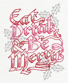 Crystal Christmas - Eat, Drink, and Be Merry | Urban Threads: Unique and Awesome Embroidery Designs