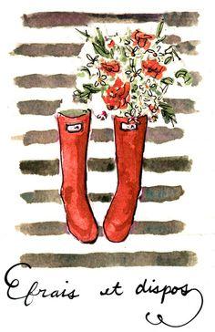 Frais et Dispos (Fresh as a Daisy) Art Print