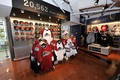 The Cavaliers Team Shop on the east side of the Quicken Loans Arena nearly doubled in size with its renovation. The 5,700 square foot, two-story shop houses Cavs gear and showcased the team's newest additions back in 2010. The flagship store featured the team's updated color scheme, breathing new life into their established fandom.