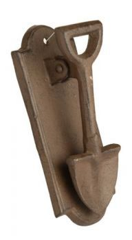 "£3.99 - Westwoods Ornate Iron Door Knocker Spade  Larchwood Forge ornate door knocker. Cast iron construction, easy to install but fixings are not included. Approximately 6.5 x 3"" in size."