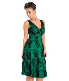 Voodoo Vixen 50's Peacock Satin Taffeta Party Dress Green - US 6 (S) Tiger Milly http://smile.amazon.com/dp/B00GNZQQX6/ref=cm_sw_r_pi_dp_xMBTub11EHNRR