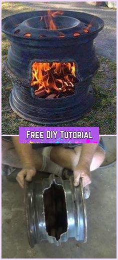 DIY Car Wheel Rim BBQ Grill Tutorial-Video