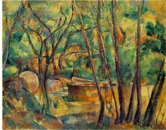 Paul Cézanne: Well, Millstone and Cistern Under Trees (1892; Oil on canvas, 65 x 81 cm/ 25 5-8 x 31 7-8 in)