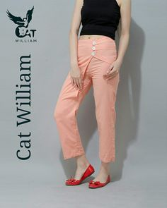 Orange Valerie pant  #_Catwilliam Www.catwilliam.com Khaki Pants, Capri Pants, Orange, How To Make, Fashion, Capri Trousers, Moda, Khakis, Fashion Styles