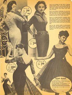 Lovely curve hugging dresses from 1959. #vintage #1950s #fashion