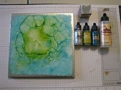 Ceramic Tile & Alcohol Inks
