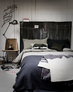 bedroom with industrial vibe