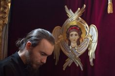 Our guardian angels stay closer to those who've been cleansed by fasting. Orthodox Christianity, Guardian Angels, Religion, Greek, Closer, Icons, People, Inspiration, Biblical Inspiration