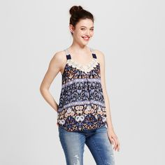 250466d20424c Lace lover at heart you ll love this Swing Tank from Xhilaration. The lace