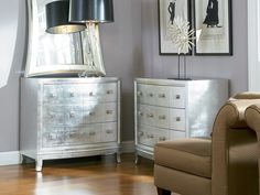 The Silver 3 Drawer Chest will add glamour to any space.