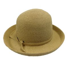 Small Kettle Brim Tweed Summer Hat