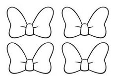 """Free & Premium Templates Do you need to create a cute Minnie mouse bow lately? It could be for your princess' scrapbook project or for the fun birthday party games such as """"pin… Mickey Minnie Mouse, Minnie Mouse Template, Minnie Mouse Party, Minnie Mouse Outline, Minnie Mouse Favors, Minnie Mouse Balloons, Mickey Party, Mickey Mouse Birthday, Birthday Fun"""