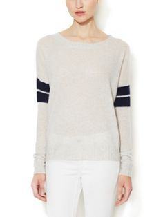 Anya Cashmere Varsity Stripe Sweater from Spring Trend #2: Sporty Chic on Gilt