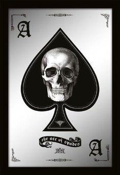 Ace of Spades Skull Mirror - http://www.amazon.com/gp/product/B00GL9S3GW/ref=as_li_ss_tl?ie=UTF8&camp=1789&creative=390957&creativeASIN=B00GL9S3GW&linkCode=as2&tag=goreydetails-20