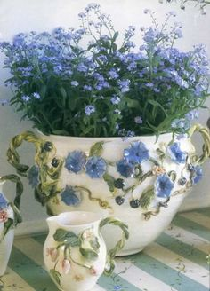 Forget-me-nots remind me of my Mom . . . . she loved them so . . . I will never forget her! <3