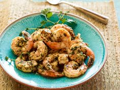 Grilled Shrimp Scampi : Turn this classic shrimp dish into a meal on the grill with Bobby Flay. You'll have a complete dinner in less than an hour.