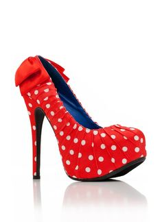 polka dot bow accented heel $35.20  another favorite shoe I probably would not buy because im so reserved but they are cute.