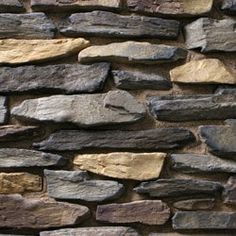 I-XL Masonry Supplies stocks Eldorado Bluffstone, a manufactured narrow ledge stone, available in a warm palette of black and gray with hints of apricot. Brick And Stone, Stone Work, Stone Interior, Interior Design Living Room, Moroccan Wallpaper, Eldorado Stone, Manufactured Stone Veneer, My House Plans, Coos Bay