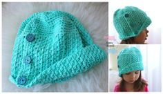 Cloche beanie by HappyHippoZ on Etsy Crochet Baby Hats, Knit Or Crochet, Cute Kids Fashion, Kids Wardrobe, My Little Girl, Loom Knitting, Knitting Designs, Modest Outfits, Beautiful Babies