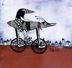 ElkeTrittel Art ink on Acrylic cm Animal Graphic, Wow Art, Naive Art, Outsider Art, Animal Design, Art Images, Abstract Art, Illustration Art, Artsy