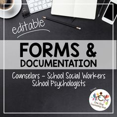 Whether you're a new counselor, school social worker, or school psychologist just starting out or looking to update the outdated forms you've been using since the mid the pack is sure to save… Social Work Offices, School Social Work, School Office, School School, Child Welfare Social Work, School Stuff, School Ideas, Future School, Future Office