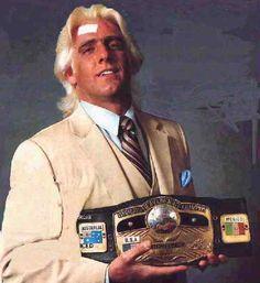 Ric Flair NWA World Heavyweight Champion Nwa Wrestling, Wrestling Stars, Wwf Superstars, Wrestling Superstars, Ric Flair, Wwe Wrestlers, Famous Wrestlers, Professional Wrestling, World Championship