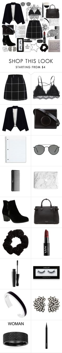 """Every tear in your eyes is a searing pain in my heart."" by andreab6 ❤ liked on Polyvore featuring Alice + Olivia, Lemaire, Ray-Ban, Sephora Collection, Skechers, Burberry, NYX, MAC Cosmetics, Inglot and Karen Millen"