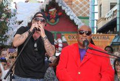 #StevieWonder & #XFactor's @VinoAlan performing today @TheGroveLA for @ExtraTV!