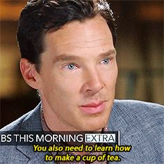 """"""" Two things Benedict Cumberbatch thinks Americans need to learn (X) """""""