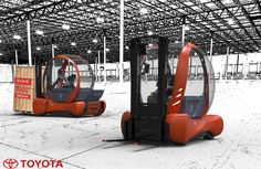 Toyota concept #forklift truck competition
