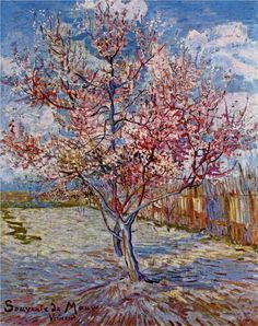 Peach Tree in Bloom (in memory of Mauve) - Vincent van Gogh, 1888. Post-Impressionism, oil, canvas