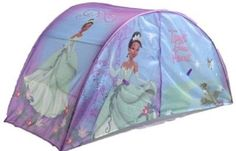 Disney Princess and the Frog Twin Bed Tent w/ Push Light NEW! Tiana