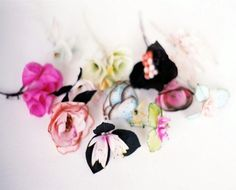 ruineshumaines: Paper Flowers by Lyndie Dourthe.   books, paper, scissors