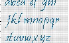 Cross stitch Pristina alphabet lowercase height 27 stitches