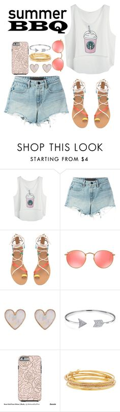 """""""Untitled #82"""" by kapreece on Polyvore featuring T By Alexander Wang, Ray-Ban, New Look, Bling Jewelry, Kate Spade and summerbbq"""